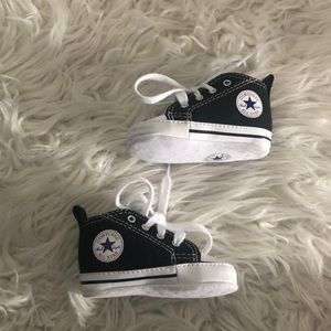 Baby Black Converse Sneakers